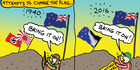 View: Cartoon: Attempts to change the flag