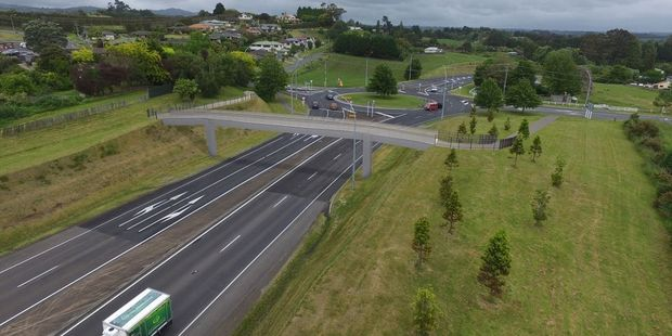 Artist's impression of the new cyclist and pedestrian bridge at State Highway 29 and Poike Rd. Photo/supplied