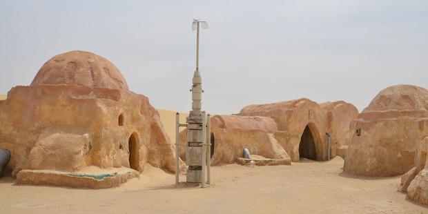 A Star Wars set in the Tunisian desert. Photo / 123RF
