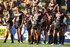 Ryan Hoffman of the Warriors and his team look dejected after a Tigers try during the round one NRL match between the Wests Tigers and the New Zealand Warriors. Photo / Getty Images.