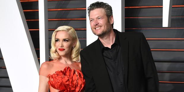 Gwen Stefani and Blake Shelton. Photo / AP
