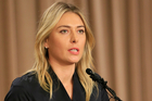 Tennis star Maria Sharapova speaks during a news conference in Los Angeles on Monday, March 7, 2016. Photo / AP.