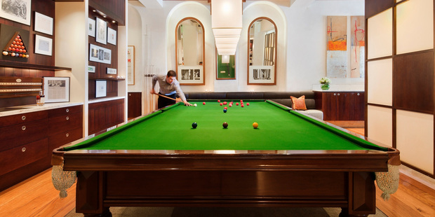 The famous billiards table at Melbourne's Hotel Lindrum.