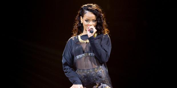 Not-so-fashionably late, Rihanna. Photo / Sarah Ivey