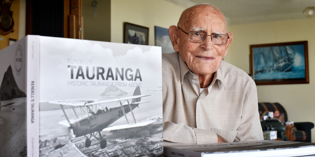 Loading The proceeds from Alf Rendall's book of aerial Tauranga photographs have been used to start a new photography scholarship. Photo / Andrew Warner