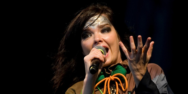 Bjork reveals she is working on fresh songs and promises they will be happy.
