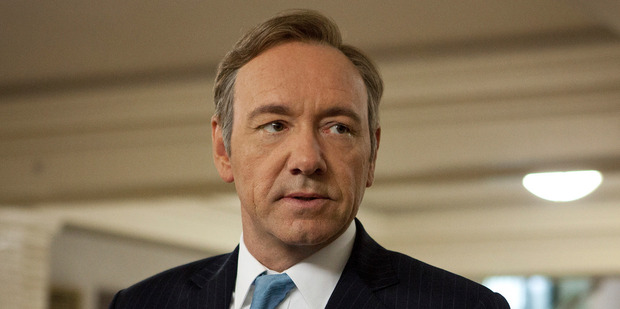 Kevin Spacey stars in the TV series House of Cards.