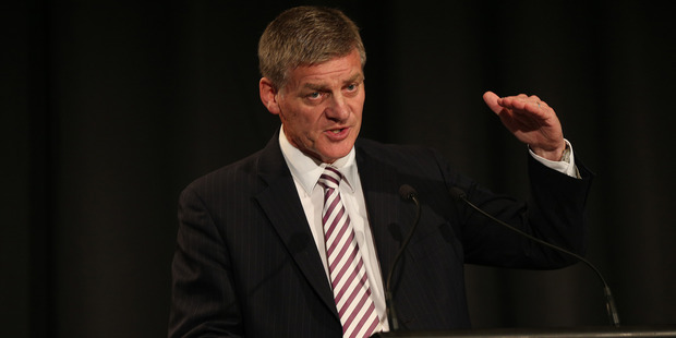 Finance Minister Bill English jumped the gun at the annual finance lunch at the Stamford Plaza in Auckland on February 25. Photo / Doug Sherring