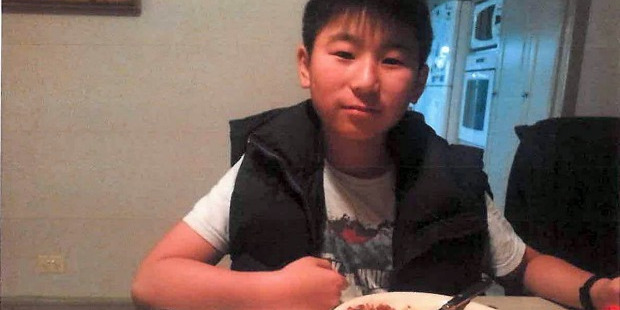 Mike Zhao-Beckenridge has been missing for a year, since he was picked up by his step-father John Beckenridge.  Photo supplied by NZH Police