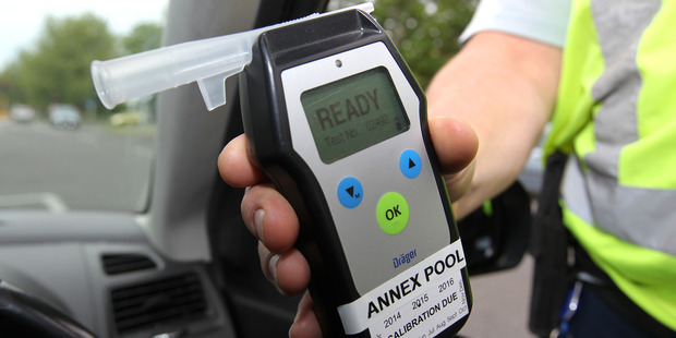 The woman was caught with a breath alcohol level of 1236 micrograms of alcohol per litre of breath. Photo / Duncan Brown