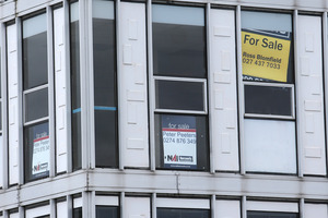 """""""For lease"""" signs have come to characterise Whangarei's inner city. Photo / Michael Cunningham"""