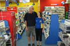 Catherine and Neil Deas will take some good memories of their time owning Kerikeri's United Video when they close the store at the end of this month. PHOTO / PETER DE GRAAF