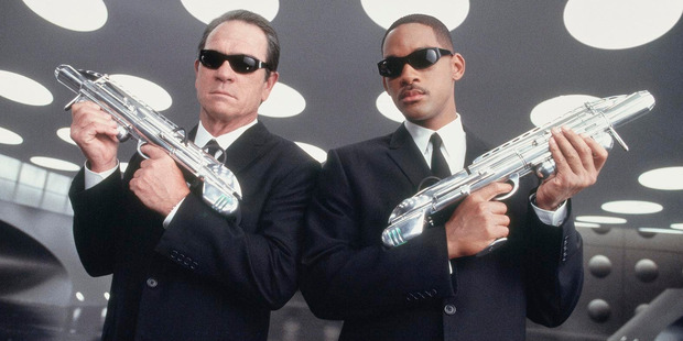 Tommy Lee Jones and Will Smith don their Ray Bans and black suits for Men In Black movies.