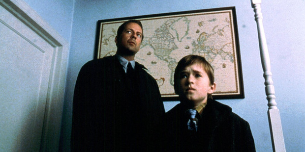 Bruce Willis and Haley Joel Osment star in The Sixth Sense.