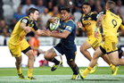 Malakai Fekitoa of the Highlanders on the attack during the round two Super Rugby match between the Highlanders and the Hurricanes. Photo / Getty Images.