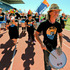 Phil Solomon leads out Bay Batacuda at the start of Relay for Life, photograph by Warren Buckland