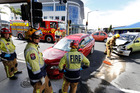 Police and Fire services attend a crash on the intersection of Walton Street and Cameron Street, Whangarei 11 March 2016 Northern Advocate photograph by John Stone