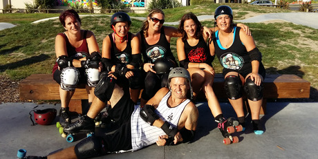 The Peowhairangi roller derby crew, pictured, is looking for fresh meat (otherwise known as new members). PHOTO / SUPPLIED