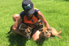 TEAM: Ange Newport with rodent dogs Cody and Tike. PHOTO/DOC