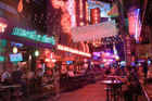 Red light district in Bangkok, Thailand.