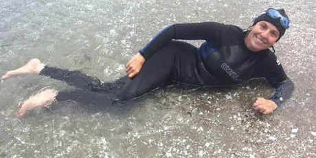 Amanda Lowry competed in the 1.6km Bridge to Bridge swim in January. Photo/supplied