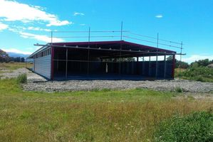 The hangar being built at Papawai airstrip for the Greytown Soaring Centre will be officially opened in April by South Wairarapa mayor Adrienne Staples. PHOTO/SUPPLIED