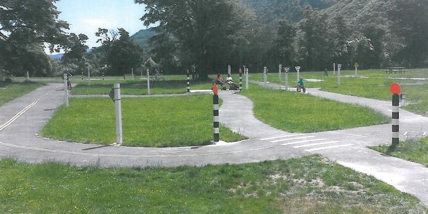 Harcourt Park in Upper Hutt is an example of a road safety cycle track proposed to be built in Masterton. PHOTO/SUPPLIED