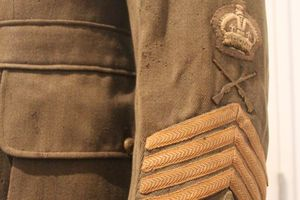 The tunic of instructor Sergeant William Totty is a on show in the exhibition. PHOTO/FILE