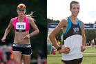 Rotorua's Johanna Ottosson and Reporoa flier Michael Voss were the winners of the Copthorne Off-Road Half Marathon.  PHOTOS/STEPHEN PARKER
