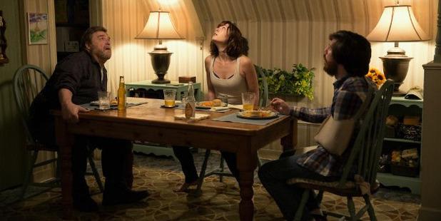 John Goodman, Mary Elizabeth Winstead and John Gallagher star in the movie 10 Cloverfield Lane.