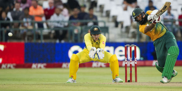 Hashim Amla top-scored with a career-high 97. Photo / Getty