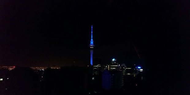 The electricity outage left nearly 5000 households near the Auckland CBD without power. Photo / Punish Budhiraja Twitter