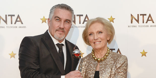Paul Hollywood and Mary Berry of The Great British Bake Off. Photo / Getty Images