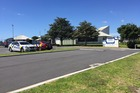Police presence at St Thomas More Catholic School in Mount Maunganui after a bomb threat was received. Photo/George Novak