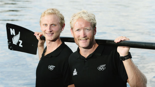 The New Zealand Men's Coxless Pair, (L-R) Hamish Bond and Eric Murray. Photo / Getty