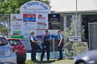 Police at St Thomas More Catholic School in Mount Maunganui after a bomb threat was made. Photo / George Novak