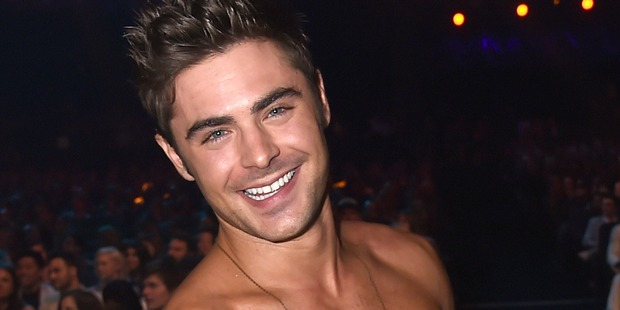 Zac Efron has been working hard to get buff for Baywatch. Photo / Getty