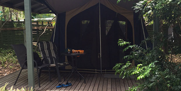 A decked tent was a great place to relax in the evenings, while spotting interesting birds and lizards.