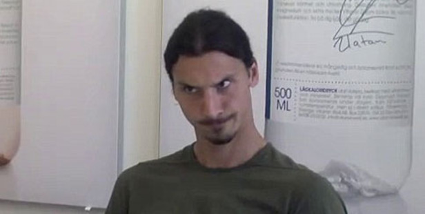 Loading Zlatan Ibrahimovic was less than impressed as he played the role of interviewer for Vitamin Well. Photo / YouTube