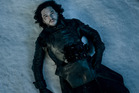 Jon Snow was stabbed by the men of the Night's Watch in a cliffhanger at the end of season five. Photo / HBO