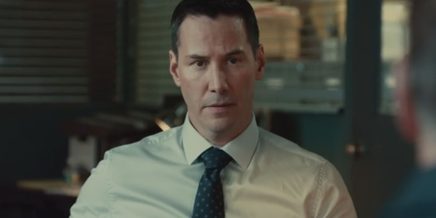 Keanu Reeves in a scene from Exposed.