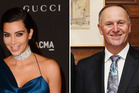 Kim Kardashian is best left alone, as is John Key. Photos / AP, Getty Images