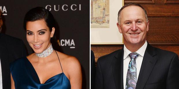 Kim Kardashian is best left alone, as is John Key. Photos / AP, Getty Images