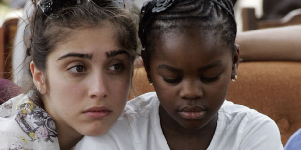Madonna's daughters Lourdes and Mercy James. File photo / Getty Images