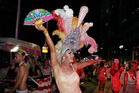 Parade goers celebrate during the 2016 Sydney Gay & Lesbian Mardi Gras Parade. Photo / Getty Images