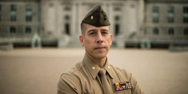 Thompson at the Naval Academy earlier this year. Photo / Nikki Kahn / The Washington Post