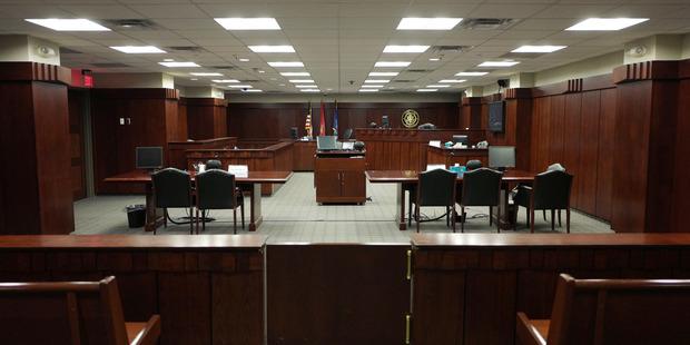 The Washington Navy Yard courtroom where Thompson's court-martial took place. Photo / Nikki Kahn / The Washington Post