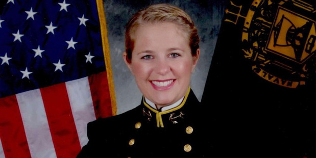 Sarah Stadler during her time at the Naval Academy.
