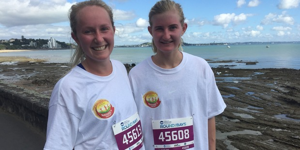 Megan McPhail, 21, left and Elidah Blanchard, 22. Photo / Catherine Gaffaney