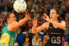 Bailey Mes in action for the Silver Ferns. Photo / Getty